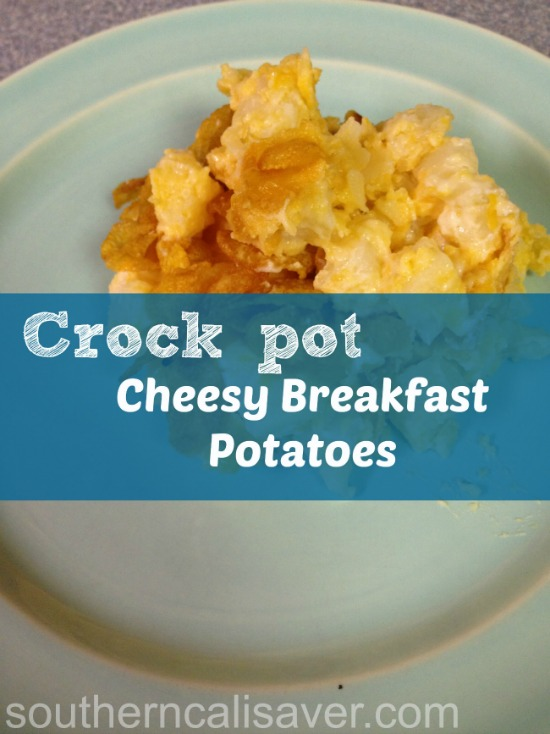 Crockpot Cheesy Breakfast Potatoes