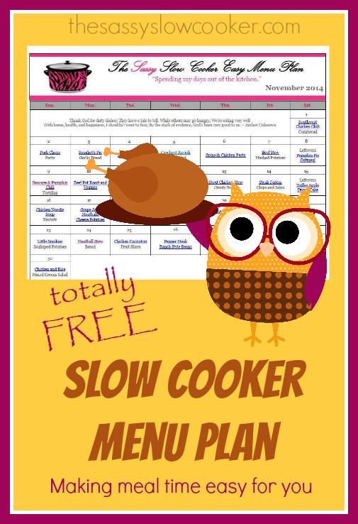 Slow Cooker Family Friendly Menu Plan – November
