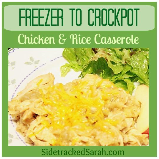 Freezer to Crockpot Chicken & Rice Casserole
