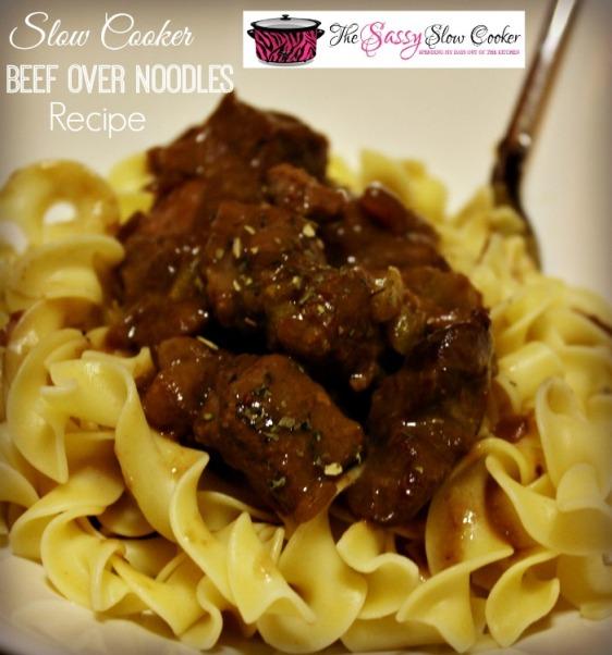 Slow Cooker Beef Noodles Recipe