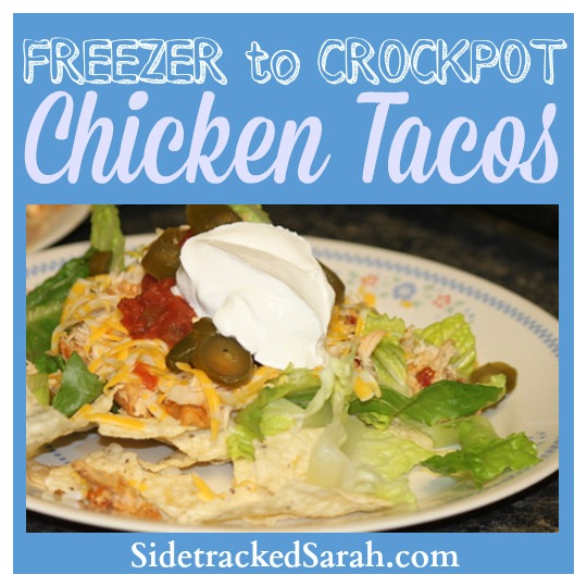 Freezer to Crockpot Chicken Tacos
