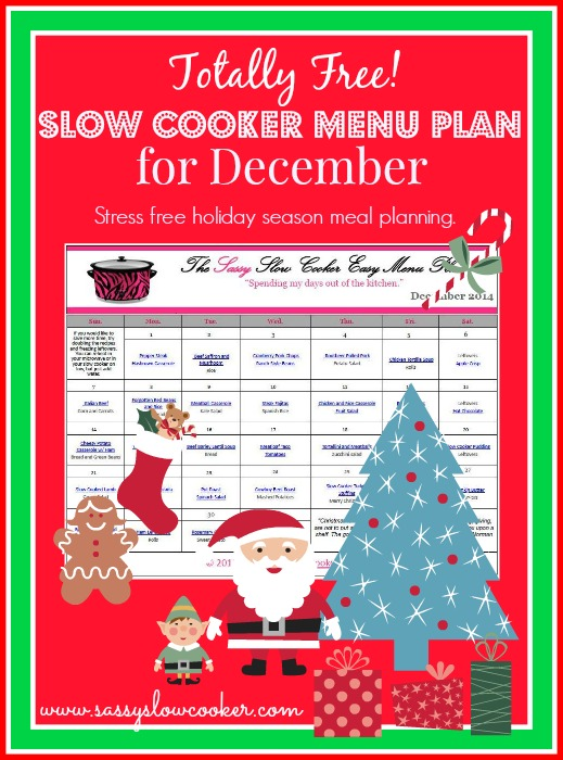 Slow Cooker Family Friendly Menu Plan – December