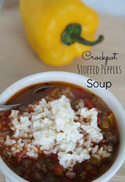 Crockpot Stuffed Peppers Soup