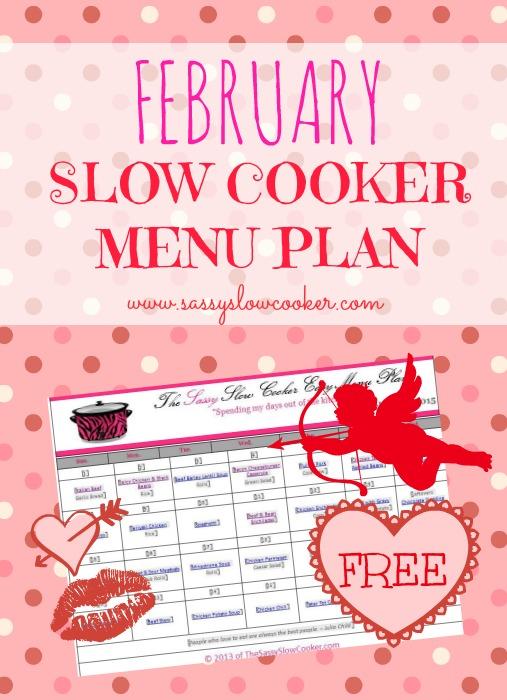 Slow Cooker Family Friendly Menu Plan – February 2015