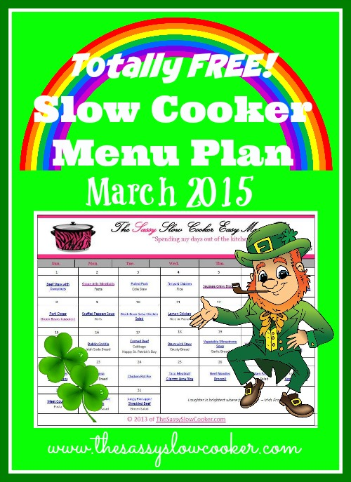 Slow Cooker Family Friendly Menu Plan – March 2015