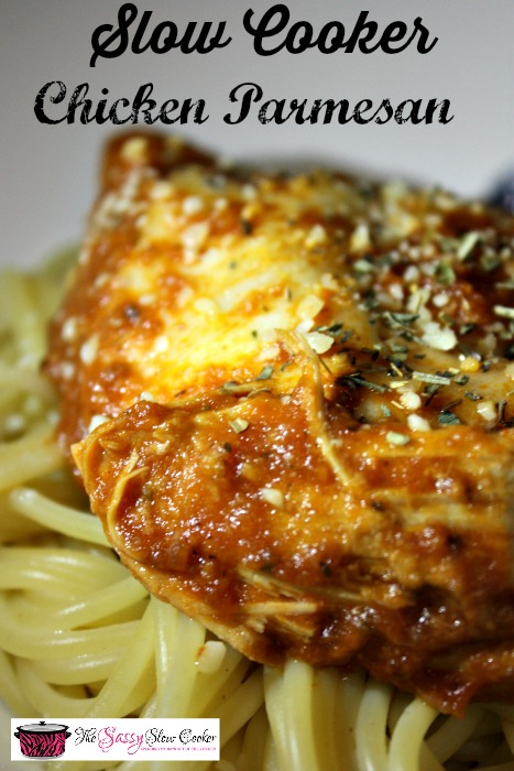 Delicious and cheesy Slow Cooker Chicken Parmesan Recipe