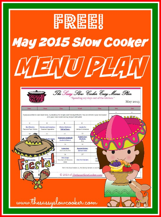 Slow Cooker Family Friendly Menu Plan – May 2015