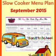 Slow Cooker Family Friendly Menu Plan – September 2015