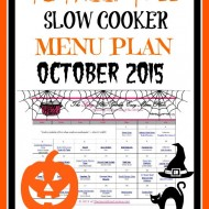 Slow Cooker Family Friendly Menu Plan – October 2015