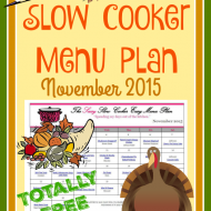 Slow Cooker Family Friendly Menu Plan – November 2015